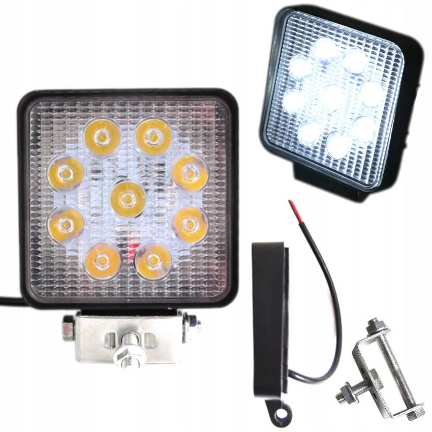 LAMPA 9 LED HALOGEN ROBOCZY 27 W 10-30V DIODOWA KW