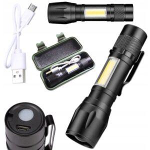 LATARKA KIESZONKOWA MINI LED ZOOM USB XPE COBE XA048 WAW