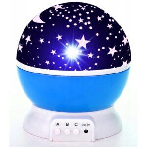 LAMPKA NOCNA LED 2w1 LAMPA PROJEKTOR GWIAZD STAR MASTER XA117