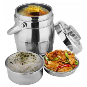 STALOWY Termos obiadowy menażka 1,6 L lunch box 3 PCS XR126