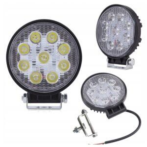 LAMPA 9 LED HALOGEN ROBOCZY 27 W 10-30V DIODOWA XA004 WAW