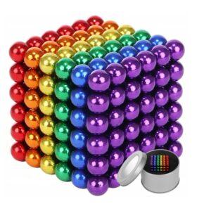 Magnetické kuličky 216ks 3mm duhové kuličky + krabička XJ3588 WAW