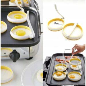 Forma silikonowa do sadzonych jajek na jajko KOŁO 2 sztuki 9,5 cm XJ3619 WAW