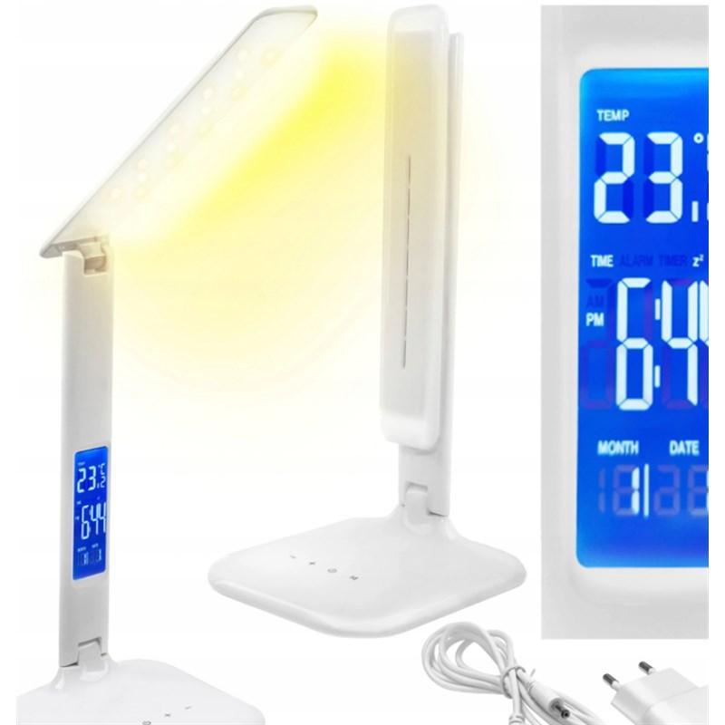 Lampka Biurkowa LED Wyświetlacz USB Lampa Biurko XJ4051